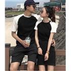 Couple Matching Short-sleeve Raglan T-shirt / T-shirt Dress
