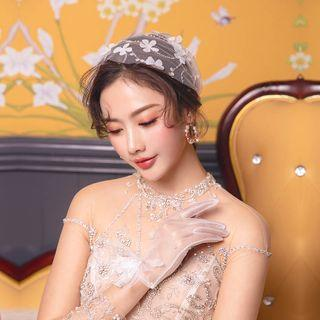 Wedding Lace Headpiece / Lace Gloves