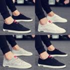 Color Panel Canvas Sneakers