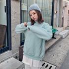 Mockneck Pastel Color Sweatshirt