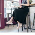 Frilled Hem A-line Skirt