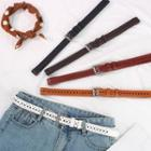 Faux Leather Perforated Belt