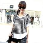 Stripe Short-sleeve Top