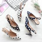 Dotted Pointed Pumps