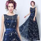 Sleeveless Chiffon Maxi Wedding Dress