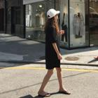 Puff-sleeve Minidress