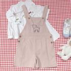 Dog Embroidered Jumper Shorts