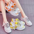 Color Block Mesh Paneled Platform Sneakers