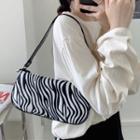 Printed Zip Shoulder Bag