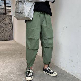 Lace-up Cropped Harem Pants