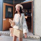 Rhombus Cable-knit Sweater