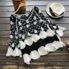 Crochet-trim Embroidery Top
