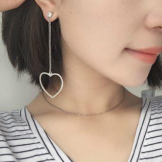 Rhinestone Star / Heart Drop Earrings