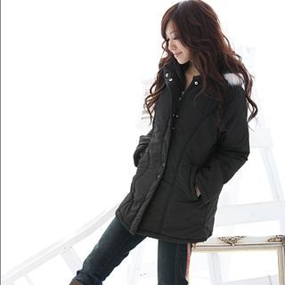 Faux-fur Trim Jacket With Hood