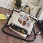 Appliqu  Canvas Shoulder Bag