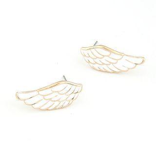 Wing-shaped Stud Earrings