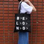 Graphic Canvas Shopper Bag