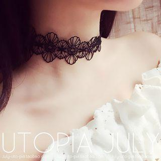 Lace Choker White - One Size