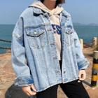 Side Slit Denim Jacket
