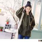Middle Pocket Hooded Tunic Top