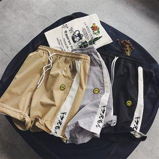 Embroidered Panel Shorts