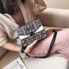 Flap Patterned Twist-lock Cross Bag