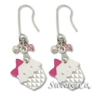 Swarovsk Miss Cupcake Earrings Silver - One Size