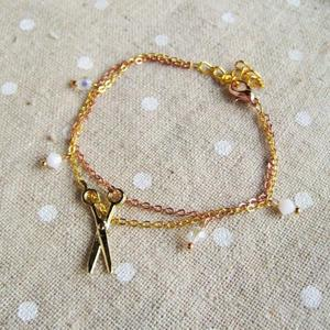 Gold Lovely Scissors Bracelet