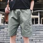 Contrast Stitching Beach Shorts