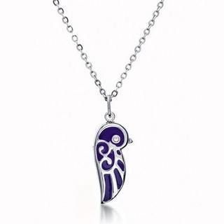 Enamel Lovebird Necklace (small) Purple - One Size