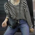 Striped Boxy Knit Top