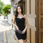 Strappy Slit-back Bodycon Dress