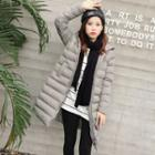 Pompom Hooded Padded Jacket