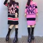 Lettering Sweater Dress