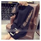 Mesh Panel Pullover Dress