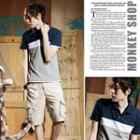 Color-block Polo Shirt