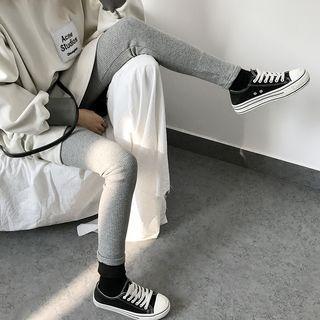 Plain Knit Leggings