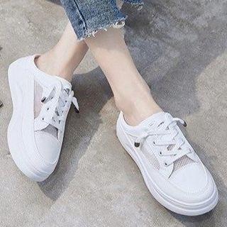 Platform Lace-up Sneaker Mules