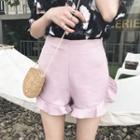 Plain Fray Trim Shorts
