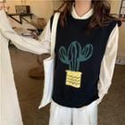 Sleeveless Cactus Knit Top