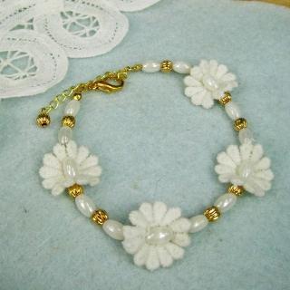 Vintage Classic Lace Flower Bracelet(white)
