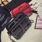 Chain Strap Faux Patent Leather Crossbody Bag
