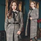 Houndstooth Snap-button Coat