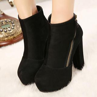 Platform Zip Ankle Boots