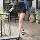 Button-front Denim Skort