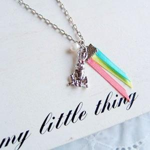 Silver Sweet Bunny Necklace