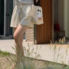 Drawcord-waist Cotton Shorts Cream - One Size