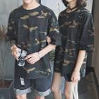 Camouflage Short-sleeve Couple Matching T-shirt