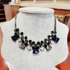 Faceted Crystal Statement Necklace