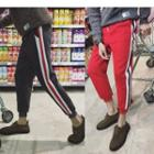 Contrast-trim Jogger Pants